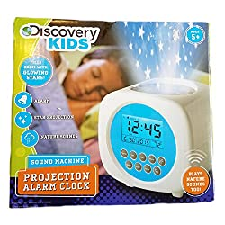 Discovery Kids Light Projection Alarm Clock With Sound Machine