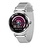 Fitness Tracker HR, FuriGer Activity Tracker Bluetooth Watch with Heart Rate Monitor, Female Intelligent Predict Menstrual Cycle Smartwatch Calorie Counter Pedometer Watch for Kids Women Men-Silver