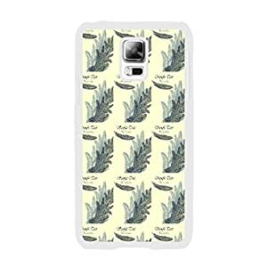 Designed Samsung Phone Case Hard Plastic Vintage Cover for Samsung Galaxy Note 2 (animal feather BY807)