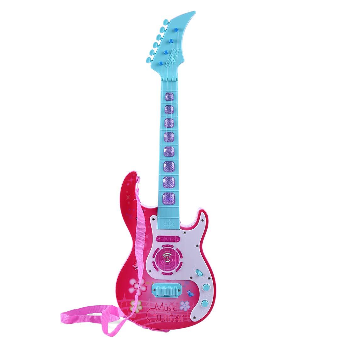 Rolanli Guitarra para Niños, 53cm 4 Cuerdas Guitarra de Instrumentos Juguetes Educativos para Niños Infantil Principiantes: Amazon.es: Juguetes y juegos