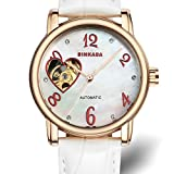 Ladies automatic mechanical watches/ fashion strap watch/ love cut waterproof women's table-B