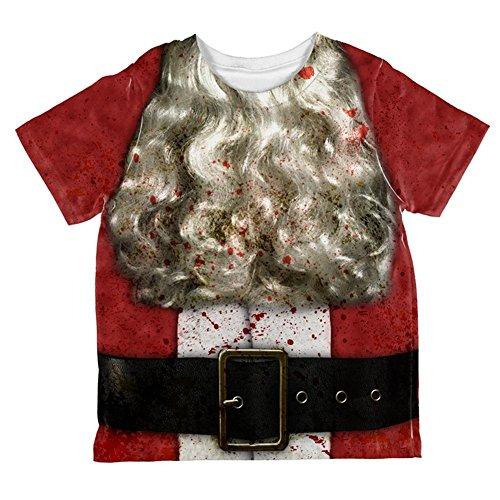 Christmas Zombie Attack Survivor Santa Costume All Over Toddler T Shirt Multi 2T