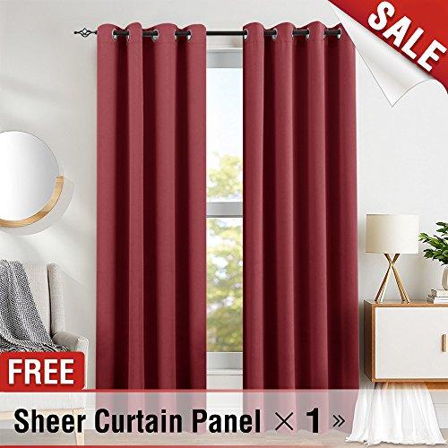 Blackout Curtain Set for Bedroom Energy Efficient Room Darke