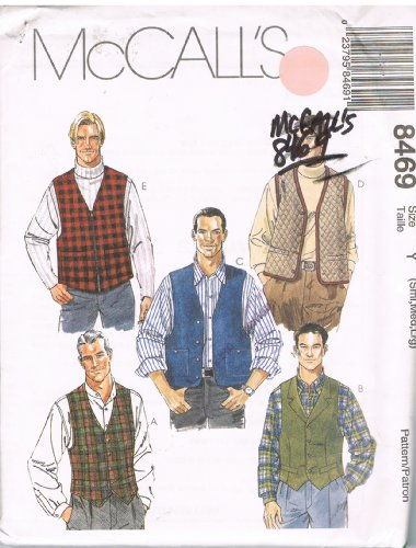 McCall's 8469 Mens Vests