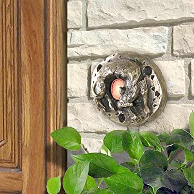 Bronze Dog Doorbell Cover with Lighted Button