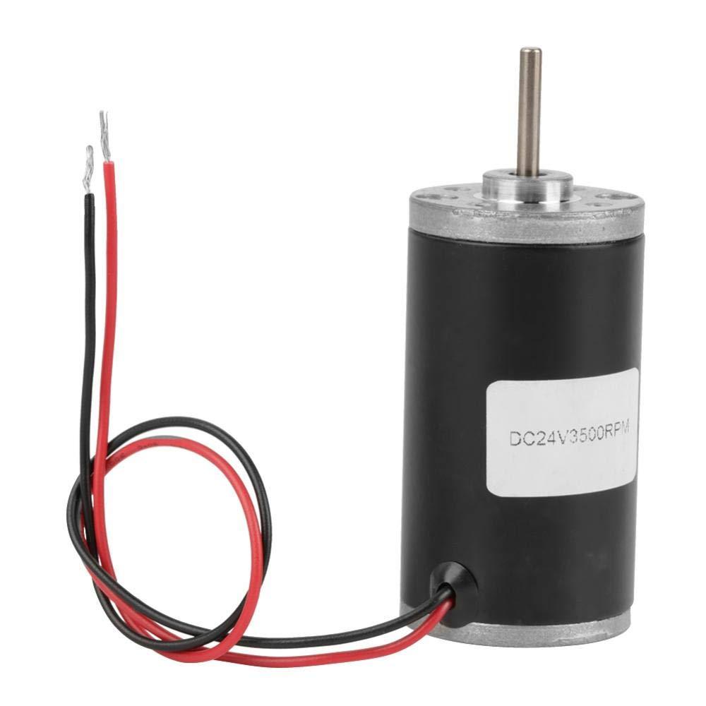 31ZY DC Motor CW//CCW DC Brush Motor 6V//12V//24V 3500-8000rpm Permanent Magnetic DC Carbon Brush Motor Electric Gear Motor High Speed Low Noise for DIY Generator 24V 3500rpm