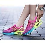 Homme Femme Chaussures de Running Sport Basket Respirante Travail Trail Sneakers Noir Rose Gris 35-46 9