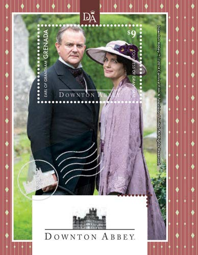 Downton Abbey - Lord Robert & Lady Cora - Famous BBC Drama - Beautiful Collectors Stamps - Grenada