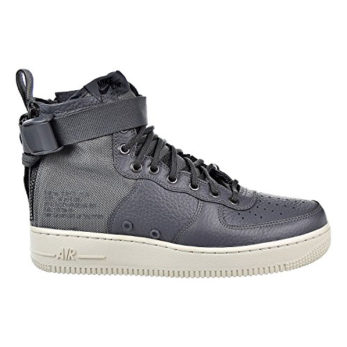 Nike Scarpe Uomo Wmns SF Air Force 1 Mid in Pelle e Tessuto Bianco 917753-101 Dark Grey/Dark Grey/Light Bone