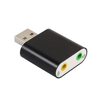 Amazon.com: Adaptador de audio 3d tarjeta de sonido 7.1 usb ...