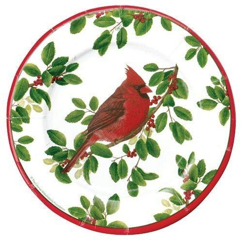 (Christmas Paper Plates Dessert Plates Christmas Party Holiday Party Christmas Winter Songbirds 8