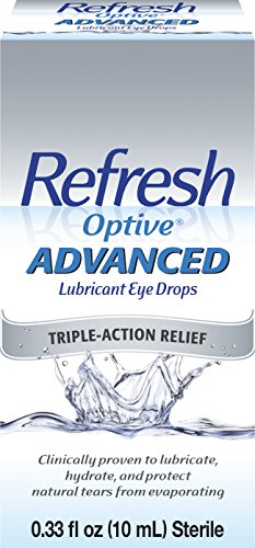 Refresh Optive Advanced Lubricant Eye Drops, 0.33 fl oz (10mL) Sterile