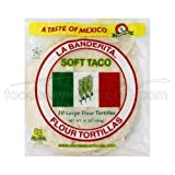 La Banderita Tortilla Soft Taco Flour 8in