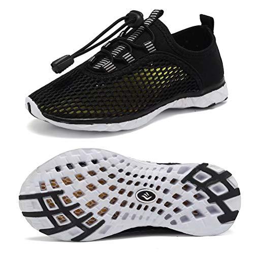 CIOR Kid Boys Water Shoes Lightweight Quick Dry Girl Sport Aqua Shoe Outdoor Athletic Sneakers(Little Kid/Big Kid),U119LSX001,Black,34