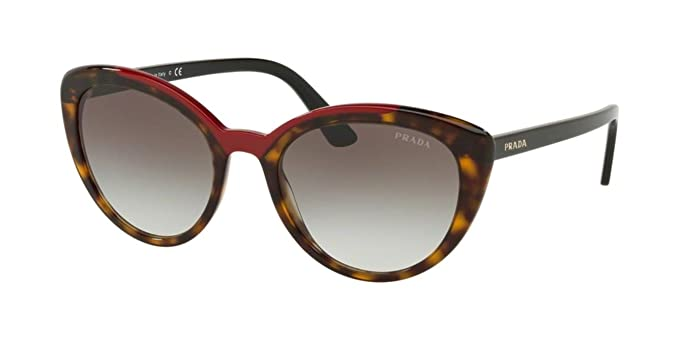 Amazon.com: Gafas de sol Prada PR 2 VSF 3200A7 HAVANA/RED ...