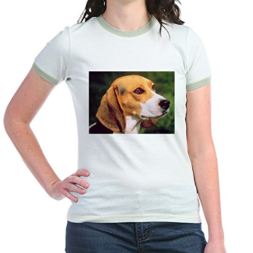 CafePress - Beagle - Jr. Ringer T-Shirt, Slim Fit 100% Cotton Ringed (Beagle Pets Ringer)