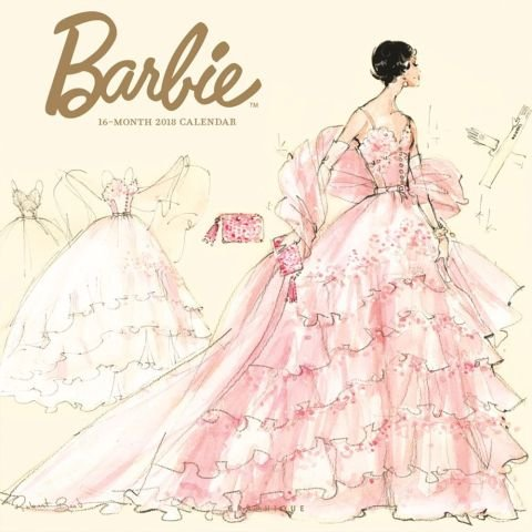 Barbie Calendar - 2018 BARBIE WALL CALENDAR by Designer Robert Best