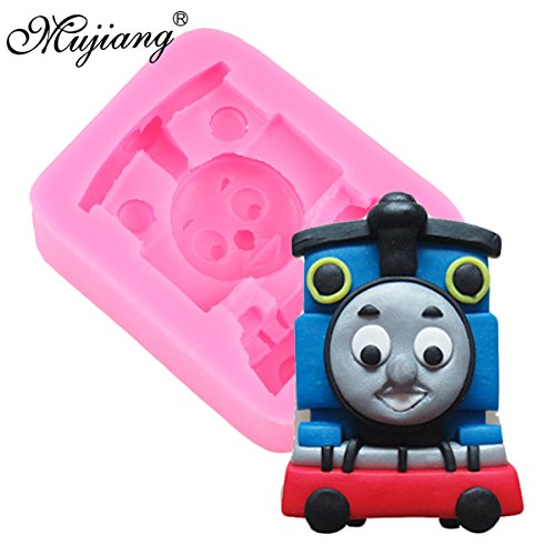 (Star Trade Inc - 3D Cartoon Thomas Silicone Molds Soap Candle Mold Baby Birthday Cake Decorating Fondant Mould Chocolate Candy Moulds (1)