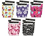 10x13 Variety Pack #1 Designer Poly Mailers Shipping Envelopes Premium Printed Bags 5 Designs (50pcs)