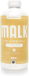 product image for MALK Unsweetened MALK, Vanilla Almond, Non Dairy, SOY & Dairy Free, Lactose Free, 28 oz, (Pack of 6)