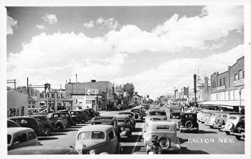 (Fallon Nevada Traffic, Shell Gas Station Real Photo Vintage Postcard JF686749)