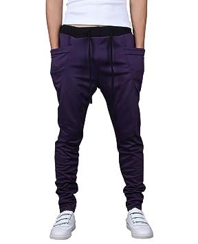 Los Hombres Pantalones De Chándal Deporte Pantalones Pantalones De Chándal  Aptitud Sweatpants De Entrenamiento Morado X-L 7dfe677b5c0e