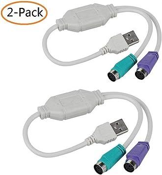 Noodei PS2 Cable de ratón a USB Cable Adaptador para Ordenador ...