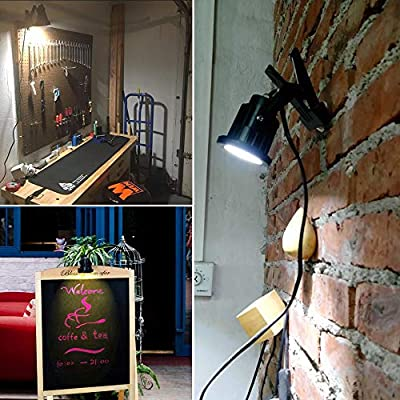 5 Watt - LED - Directional Bullet Light Come with Clamp and 9.84 Ft Power Plug and waterproof switch - 400 Lumens - Black Finish - 4000 Kelvin - 60 Deg. Beam Angle - Greenscape LED-TD0234-40K-KG