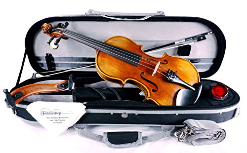 Fiddlerman Artist Violin 4/4 Outfit with Case, Bow, Rosin, Shoulder Rest by Fiddlerman