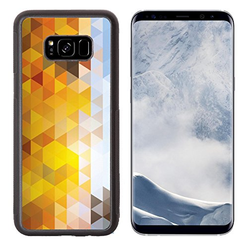 Luxlady Samsung Galaxy S8 Plus S8+ Aluminum Backplate Bumper Snap Case IMAGE ID 26366119 Abstract mosaic background