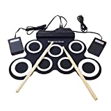 SODIAL Electronic Drum t /7 Electronic Drum /7 Tone /8 Demo Song/ 7 Drum Pads Metronome Function/External Instrument Input Available Pedal with Stick Practice/Beginner