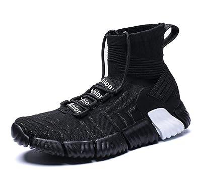 0e555126b4e9d Amazon.com | Bloossom Men's high-top Sneakers, Lightweight Flying ...