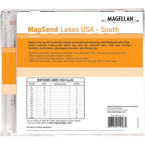 Software Lakes Usa Sd Card - Magellan MapSend Lakes USA, South Freshwater Maps microSD Card