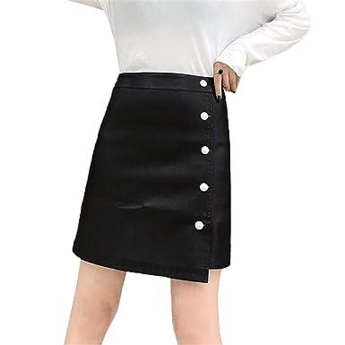 Xiuy Plisada Asimétrica Falda Mini Ajustada Faldas Cortas Sexy ...