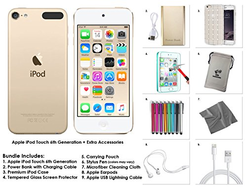 Apple iPod Touch 6th Generation and Accessories, 32GB - Gold 6g Ipod