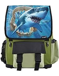 Great White Shark Jaws School Backpack For Boys, Girls, Kids