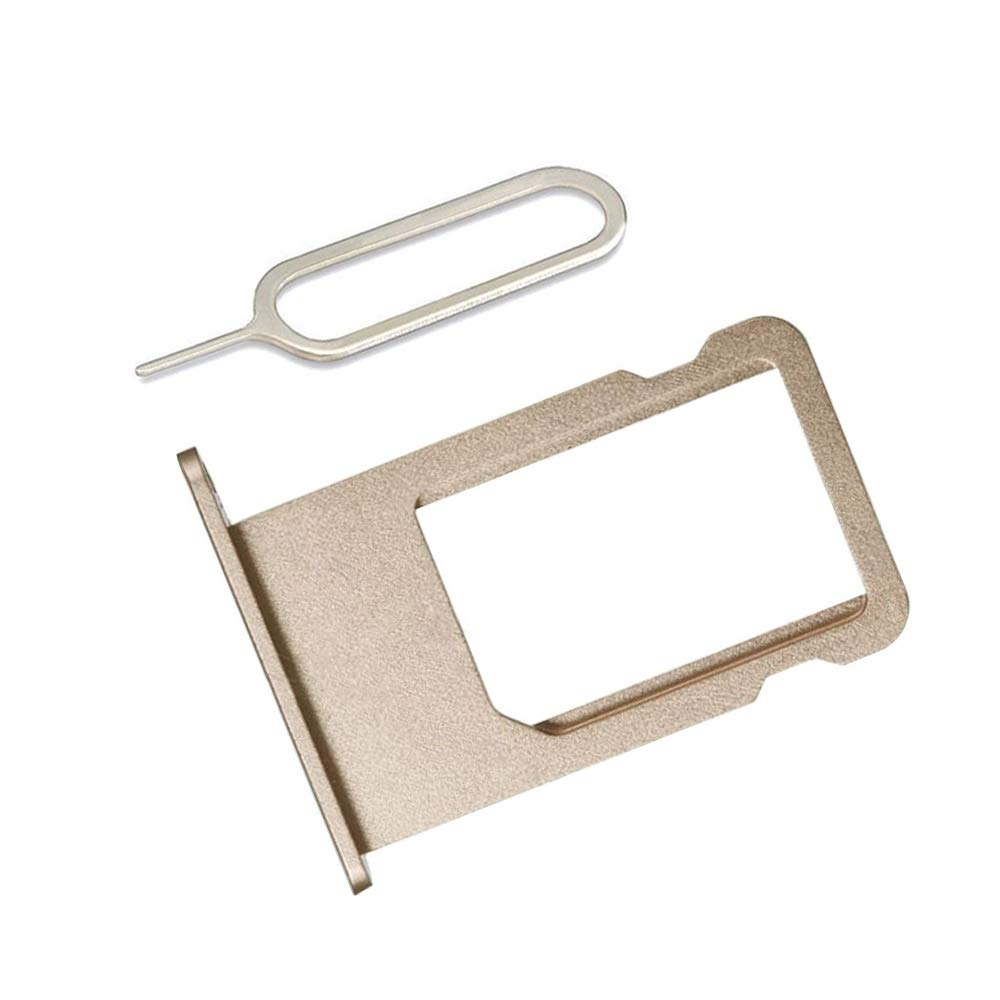 LIBAI-V SIM Card Tray Holder Compatible with iPhone 6 incl Ejector Pin Tool Gold Cloth