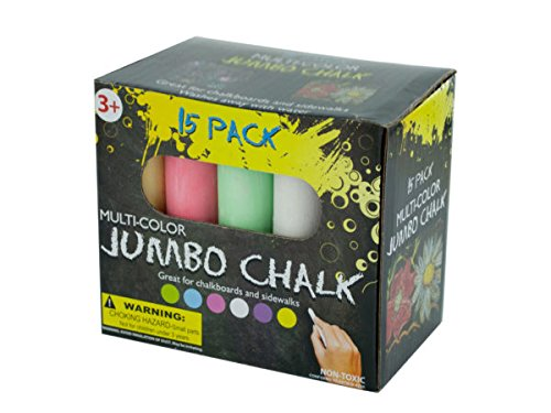 Multi-Color Jumbo Chalk Set - Pack of 36 by bulk buys