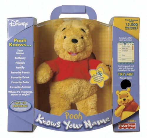 Fisher Price Disney Plush Pooh Knows Your Name