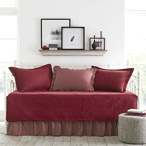 Stone Cottage Trellis Collection 5-Piece Daybed Set, Scarlet - Collection Twin Daybed