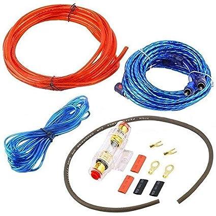 takestop Komplettkit Audio-Cinchkabel f/ür Verst/ärker-Installation Stromversorgung im Auto