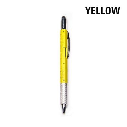 Minni Lindo bolígrafo 6 en 1 multiherramientas creativo multifunción punta de bolígrafo nivel pinza destornillador multifunción capacitancia ...