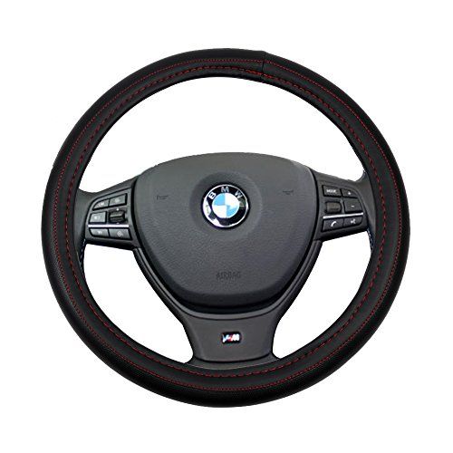 d Line Universal 15 Inch Steering Wheel Cover PVC Semi-PU Leather Protection Auto Steering Wheel Cover ()