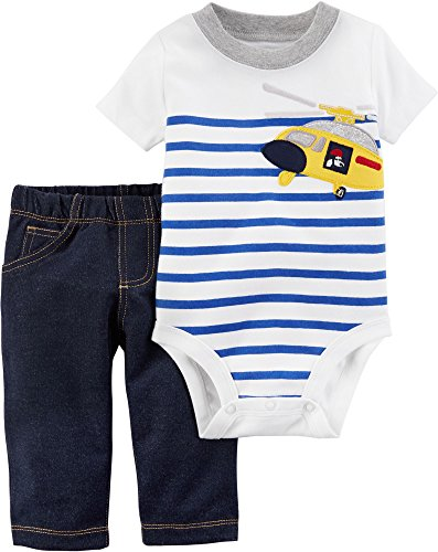 Carter's Baby Boys' 2 Piece Bodysuit Pant Set 3 (Boys Carters 2 Piece)