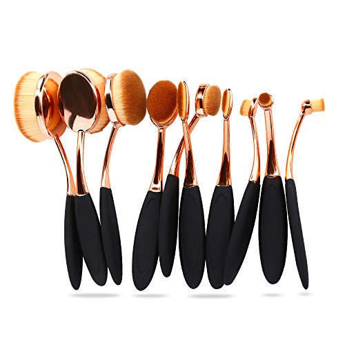 7bbb0be26fc4 Bestidy Professional 10 Pcs Soft Oval Toothbrush Makeup Brush - Import It  All