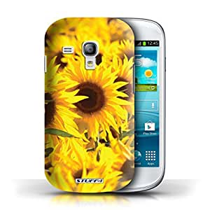 STUFF4 Phone Case / Cover for Samsung Galaxy S3 Mini / Sunflowers Design / Floral Garden Flowers Collection