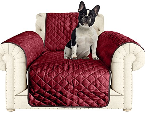 AKC Quilted Pet Chair Cover in Burgundy/Black (Best Place To Buy Sectional Sofa)