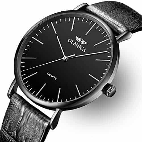 Men's Watches Luxury Wristwatches 41mm Simple Dial Quartz Movement-Replaceable Multi-Color Band Black Color