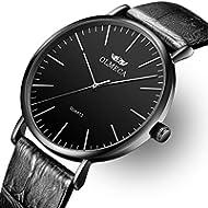Men's Watches Luxury Wristwatches 41mm Simple Dial Quartz Movement-Replaceable Multi-Color Band...