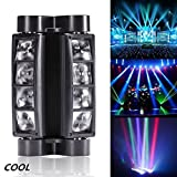 dmx light package - Spider Moving Head light, DMX-512 Portable Stage Light with 8x3W RGBW 4 Color LED Lamp for DJ KTV Disco Party by U`King (Black) …